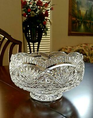 Waterford Crystal ~ MASTER CUTTERS 9 INCH CENTERPIECE BOWL ~ MINT ~ HAND SIGNED
