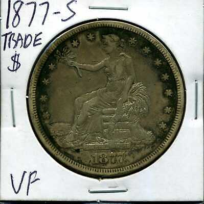 1877-S T$ Trade Silver Dollar in XF Condition