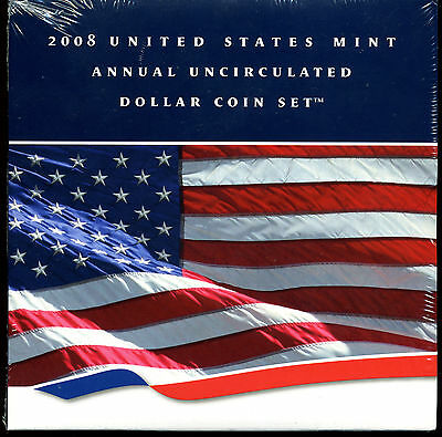 2008 United States Mint Annual Uncirculated Dollar Coin Set - Opened