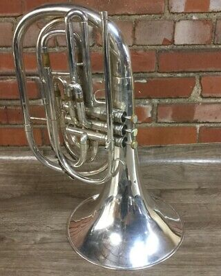 King 1122 Silver Marching French Horn - key Bb (stock#904015)