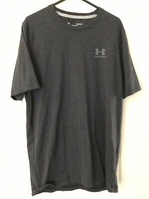 Under Armour T Shirt Mens Short Sleeve Top Gym Sports Tee Size M