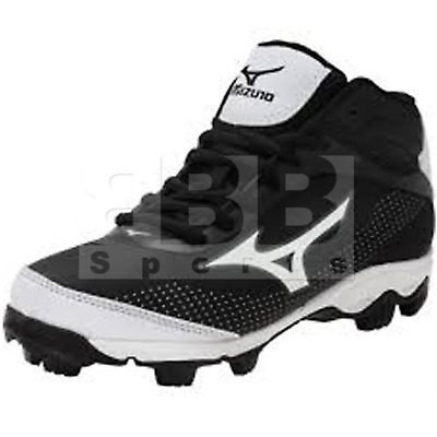 Brand New Mizuno Youth 9-Spike Advanced Franchise 9 Mid Baseball Cleat 320552