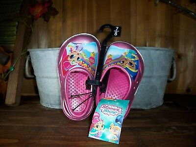 Shimmer And Shine Girl Toddler Beach Shoes Size 7-8 Slip On Pool Shoes Vacation