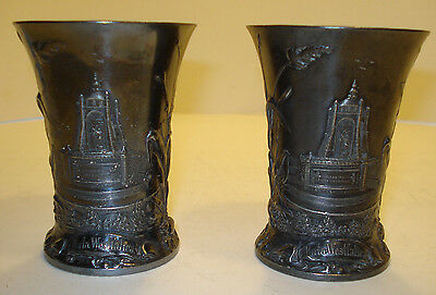 Antique Wmf Art Nouveau Jugendstil Beautiful Pair Of Cups Mugs Silverplated