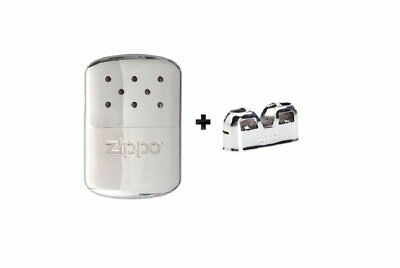 Zippo Hand Warmer, Chrome, 12-Hour + (1) Replacement Burner #40323_44003