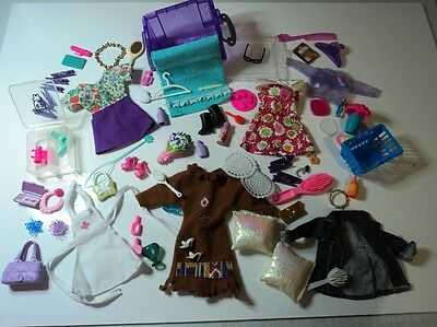 FASHION LOT of ACESSORIES & clothes BULK BARBIE teen Doll shoes bags makeupc
