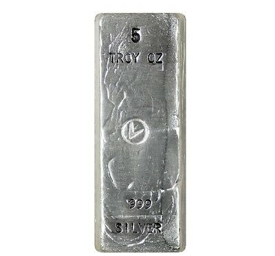 5 Troy Ounce Silver Bar | .999 | Hand Poured