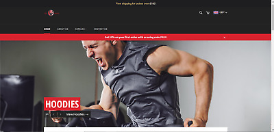 PROFITABLE Mens Sportswear Ecommerce Dropshipping Website Business 470 PRODUCTS!