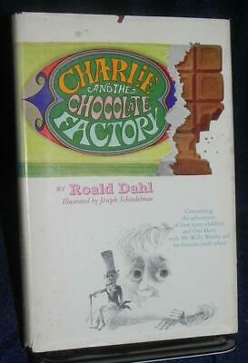Charlie and the Chocolate Factory Dahl 1st/2nd w Rare DJ!