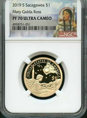 2019 S Sacagawea $1 Mary Golda Ross NGC PF70 Ultra Cameo Portrait Label
