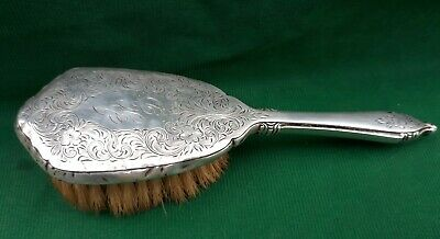 Antique Sterling Silver Baby Hair Brush Webster Co. Monogram