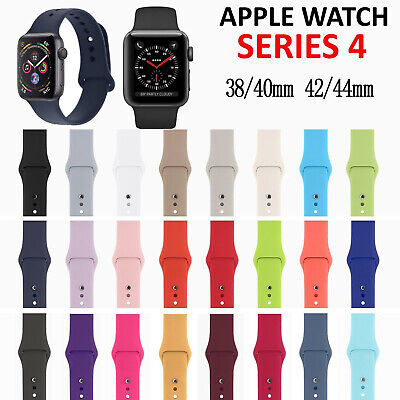 Replacement Silicone Sport Band Strap for Apple Watch Series 4 3 2 1 40mm/44mm