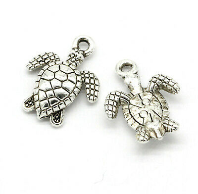 Tibetan silver Ancient style Charms pendant earring HAND25x23mm 1.6g