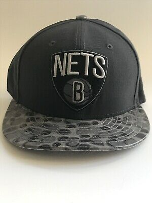 0a351221c97 New Era Brooklyn New York Nets Gray 59Fifty Flat Bill Fitted Cap NBA Hat 7 1