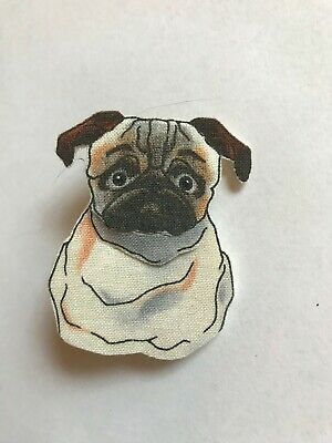 FINE ART PRINT FROM ORIGINAL WATERCOLOR ACEO,CUTIE PIE PUG DOGGY LOOKING AT YOU