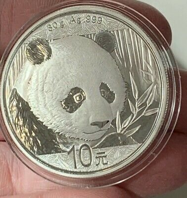 2018 Silver China Panda 1 ounce coin BU condition .999 Chinese Coin