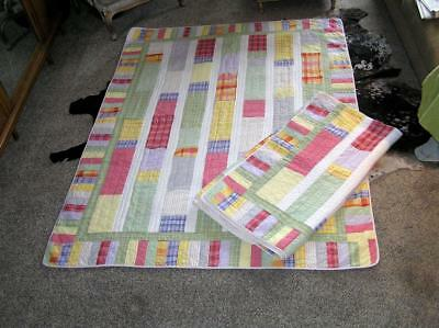 "Quilt Matching patchwork Twin Quilts 85"" x 64"" for SET! RARE"