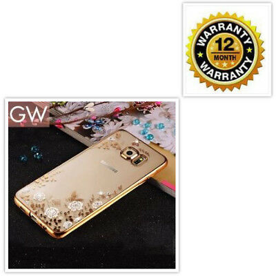 Fancy Samsung Galaxy S10/S10e Plus Case Cover Gold Clear Flowers Accessories