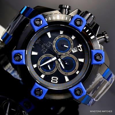 Invicta JT Grand Octane 63mm Chronograph Black Blue Steel Swiss Mvt LE MOP Watch