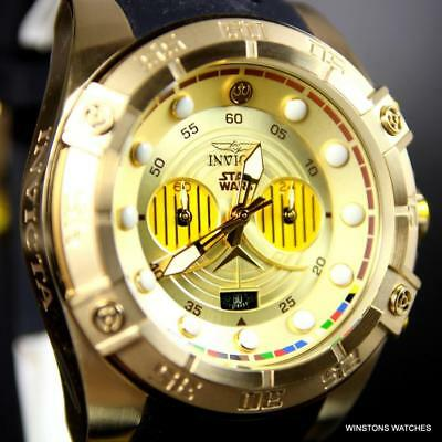 Invicta Star Wars C3PO Chronograph Gold Plated Limited Edition 52mm Watch New