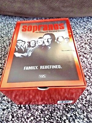 THE SOPRANOS THE COMPLETE SECOND SEASON VHS BOX SET 2001, 5-Tape Set HBO FAMILY