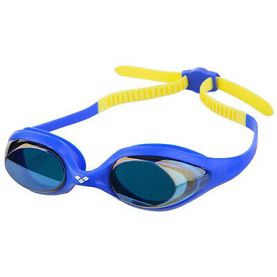 Arena Spider Junior Youth Mirror Swimming Goggles Blue Blue Yellow