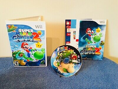 Super Mario Galaxy 2 (Nintendo Wii, 2010) Complete With Manual And Inserts