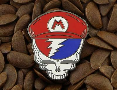 Grateful Dead Pins Mario Steal Your Face Pin