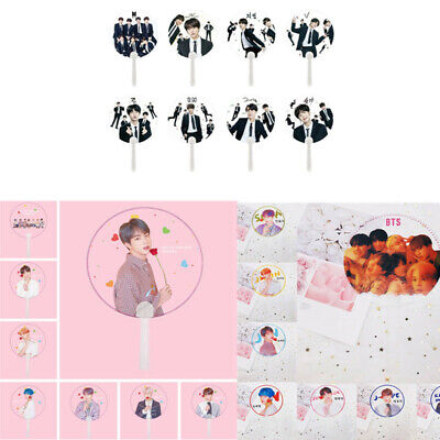 Portable Mini Hand Fan Kpop BTS Bangtan Boys Transparent PVC Hand Fan Summer New