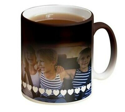 Personalised Magic Mug Heat Changing Cup Image Photo Logo Text Gift Presents