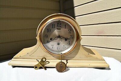 Antique Ansonia 8 day striking mantle clock Westminister chime Level in Dial
