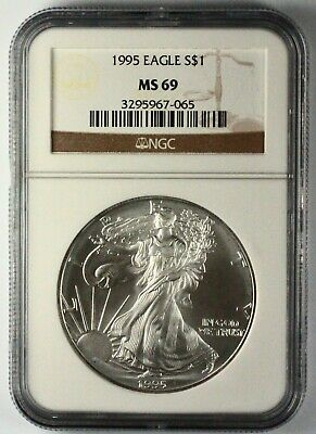 1995 Silver American Eagle MS69 NGC 1 oz CERTIFIED KEY DATE