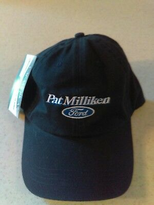 530a9b58b7c3ac Ford Blue Oval Pat Milliken Ford Blue Embroidered Dealership Hat Adjustable