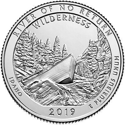 2019 S Clad Proof Frank Church River of No Return Wilderness National Quarter