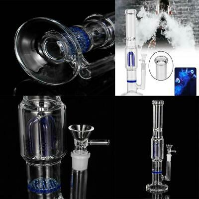 11 inch Glass Bong Perc Smoking Pipe Water Hookah w/ Ice Catche Somke Bottle