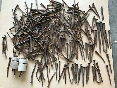 1880 ANTIQUE CUT NAILS 4 lbs various sizes for Restoration Projects 19th Century