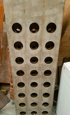 Raw Timber 24 Bottle Wine Rack Wooden Storage Cellar Vintry Organiser Stand