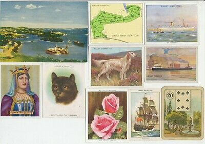 62 Large Cigarette Cards c.1910-1940's (Various Issuers & Subjects) All Diff.