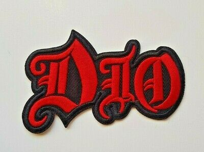 Dio Iron on Sew Embroidered Patch Badge Ronnie James Heavy Metal rock Devil evil