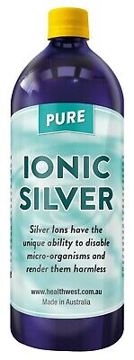 Colloidal/ionic Silver 1000ml Positively Charged Bacteriostatic