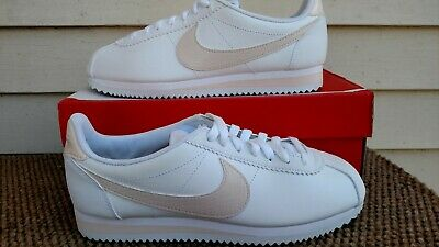 d509ca3f7fb Nike Womens Classic Cortez Leather Sneaker Casual White Guava Ice New Size 8