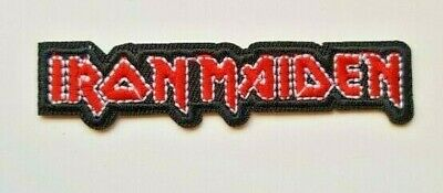 Iron Maiden Iron on Sew on Embroidered Patch Badge Eddie Heavy Metal Rock jacket