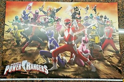 Saban's Power Rangers The Ultimate Visual History Poster New York Comic Con 2018