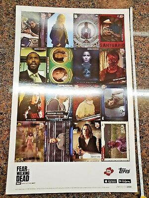 Fear The Walking Dead Art Print Poster Limited to 2500 NYCC 2016 Topps AMC Show