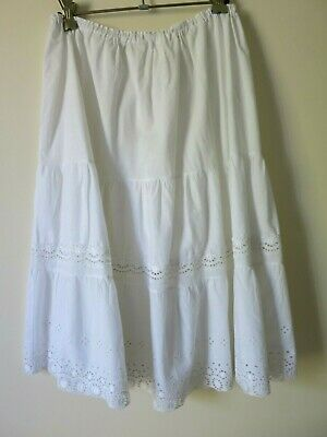 Vintage 'Lyn Maid' white halfslip petticoat or skirt, quality cotton size 'OS'