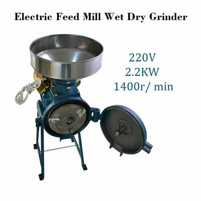 TOP! 220V Electric Feed/Flour Mill Cereals Grinder for Corn Grain Coffee Wheat