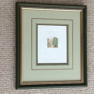 Stephen Whittle miniature etching, embossed border - highly collectable artist