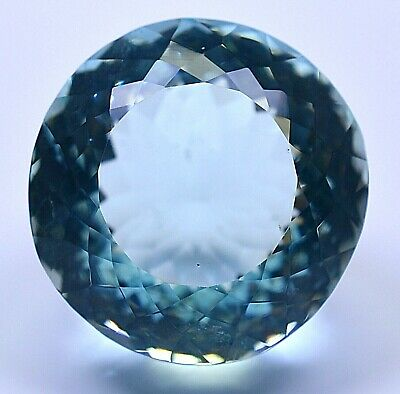 129 Ct Brazilian Natural Greenish Blue Aquamarine Loose Gemstone Certified B2605