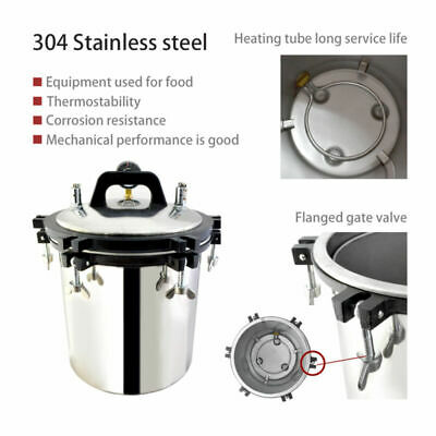 18L Autoclave Sterilizer Hosptial Heath Scientific Research Stainless Steel