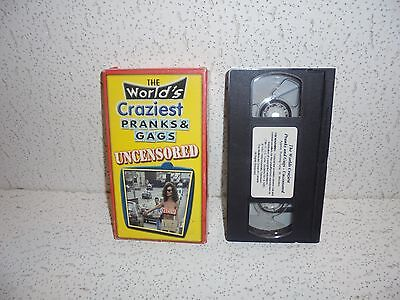 The World's Craziest Pranks & Gags Uncensored VHS Video Out Of Print